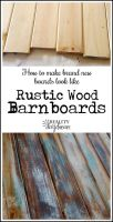 Make NEW wood look like OLD distressed Barn Boards ...