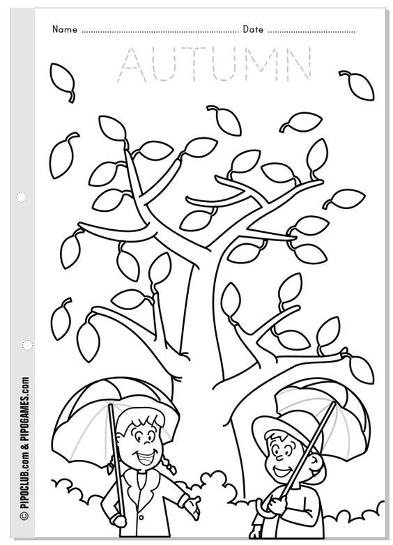 Worksheets, Preschool and Autumn on Pinterest