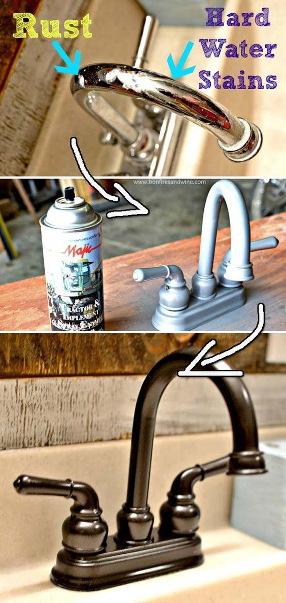 Spray Paint Faucet: