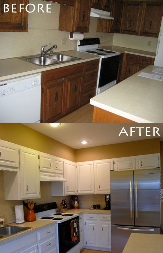 Before  After Meredith  Stephens DIY Kitchen Rehab