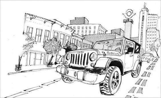 Great Rubicon illustration done by Brett Affrunti for Car