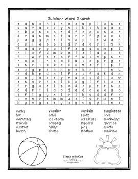 Your students will enjoy this word search for the end of