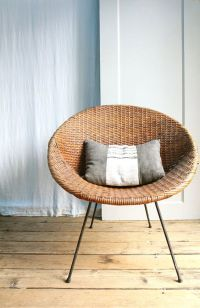 Vintage Mid Century Wicker Basket Chair / Local Pickup ...