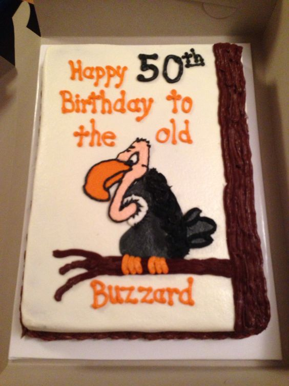 50th Birthday 50th Birthday Cakes And Buzzard On Pinterest