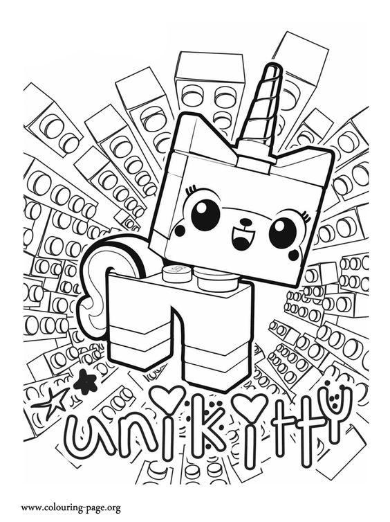 Unikitty A Unicorn Kitten Coloring Page