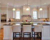 Interior Design, Traditional Kitchen Also Elegant White ...