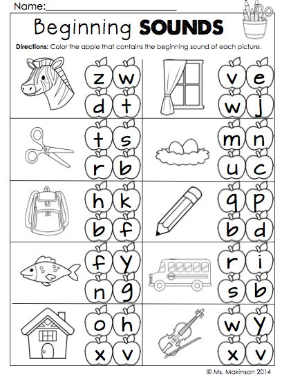 Back to, Back to school and Beginning sounds on Pinterest