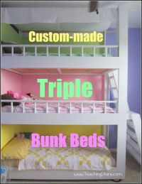 DIY Triple Bunk Beds Making A House Our Home  Part II ...