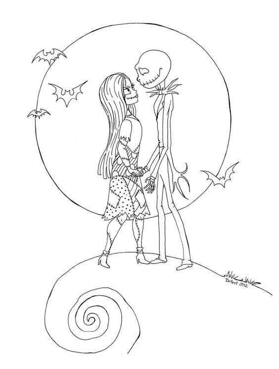Nightmare before christmas, Coloring and Jack o'connell on