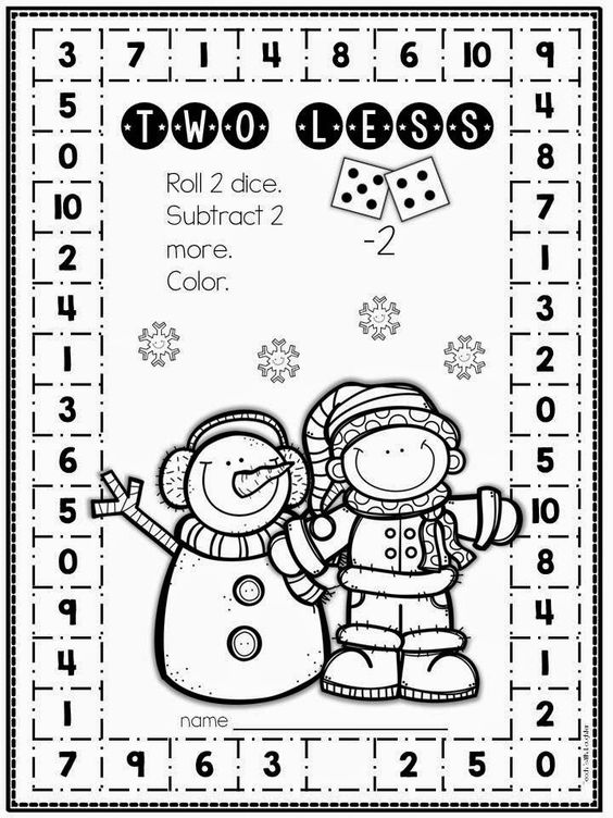 Coloring, Math sheets and Subtraction activities on Pinterest