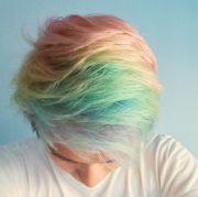 pastel rainbow hair colorful