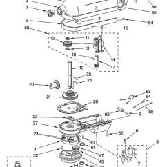 Kitchen Aid K5ss Antique Metal Cabinet Case, Gearing And Planetary Unit Diagram & Parts List For ...