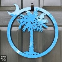 Palmetto and Cresent Moon Door Decoration | South Carolina ...