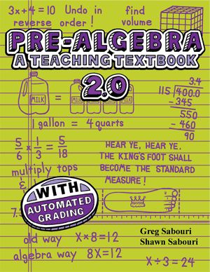 Teaching Textbooks  Prealgebra  Andrew's 7th Grade Math Curriculum 20132014  Math In The