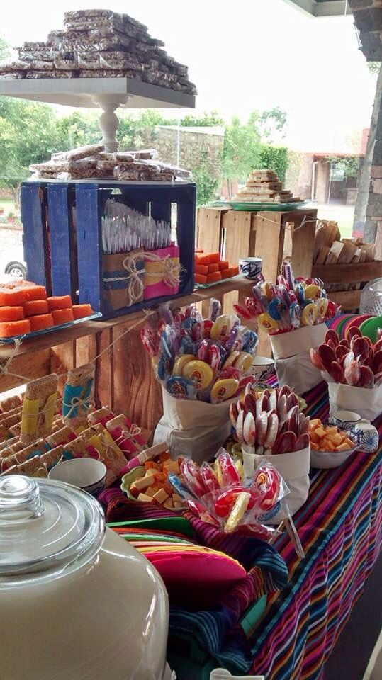 Mesa de Dulces Mexicana  Bar Table Ideas  Pinterest  Candy Mexicans and Mesas