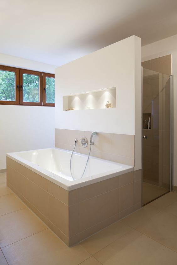 trennwand badewanne dusche trennwand dusche bauen | designmore, Badezimmer