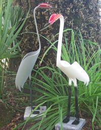 PVC pipe birds | The Cranes are approx. 26 inches tall and ...
