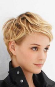 short pixie haircut with soft curls