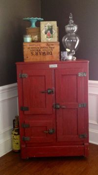 Old ice box turned liquor cabinet, I have one of these in