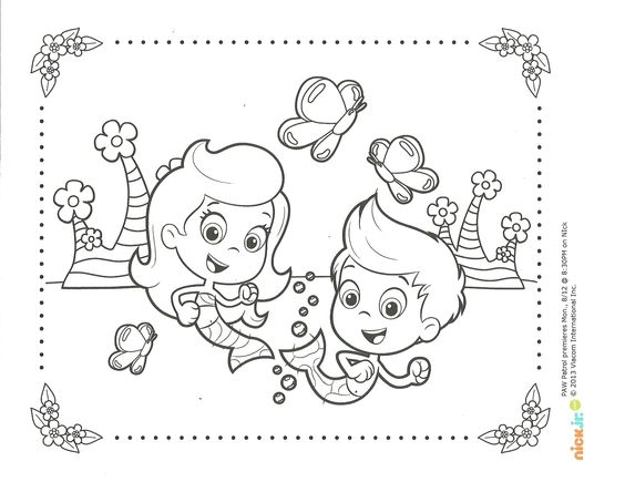 Bubble guppies, Coloring pages and Coloring on Pinterest