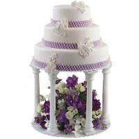 Wilton Wedding Cake Plate Stand Column Pillars Tier SET OR ...