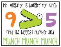 Alligator Greater/Less Than | Math | Pinterest | Bags ...