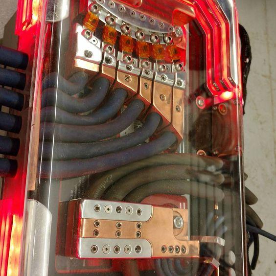 55 Chev Wiring Diagram Custom Car Audio Power Distribution Plexiglass Billet