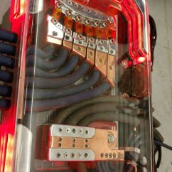 7 Pin Wiring Diagram Truck 2006 Chevy Cobalt Ss Stereo Custom Car Audio Power Distribution, Plexiglass Billet, Leds Copper, Fuse Block | ...