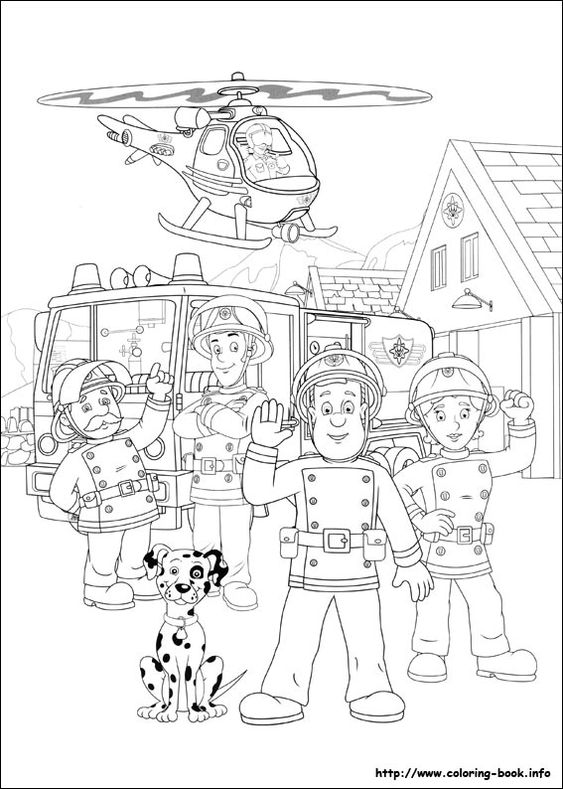 Coloring, Colouring pages and Fireman sam on Pinterest