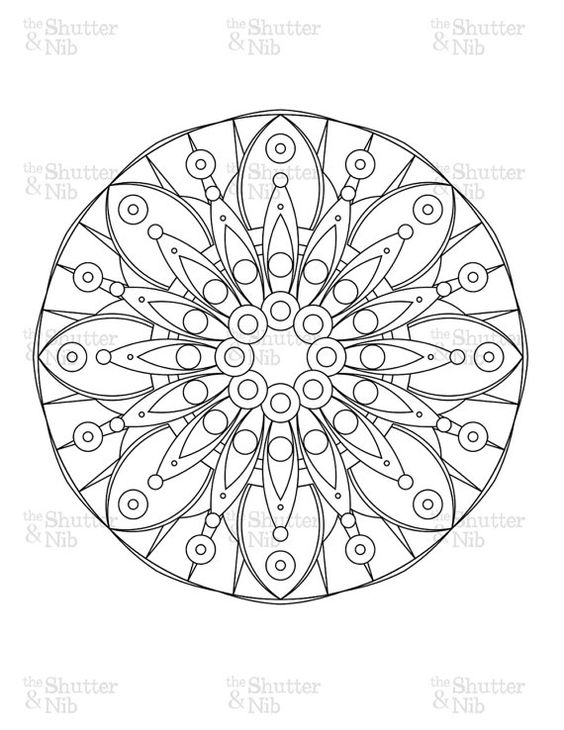 Mandalas, Coloring book pages and Coloring books on Pinterest
