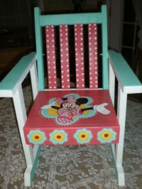 Hand Painted Rocking Chair Minnie Mouse Chair by ...