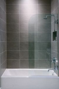 Flats, Shower tiles and Glass panels on Pinterest