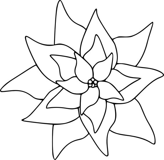 The Poinsettia Image in This Free Digital Stamp is Perfect