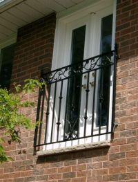 Juliette balcony on custom french doors | Windows & Doors ...