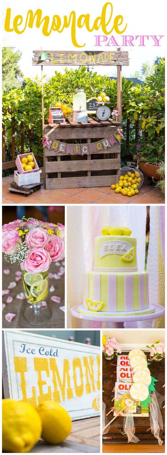 How cute is this vintage lemonade stand party?! See more party ideas at CatchMyParty.com!: