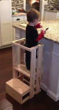 Child Kitchen Helper Step Stool by TeddyGramsTotTowers on ...
