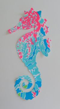 Seahorses, Silhouette and Pillows on Pinterest