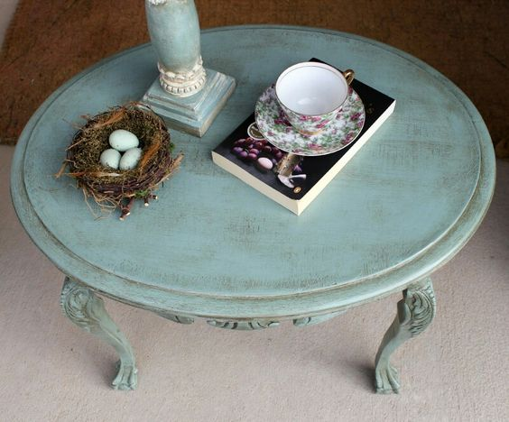 Annie Sloan Duck Egg Blue Chalk Paint With Clear And Dark