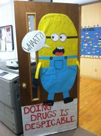 Red ribbon door decoration | Teacher Things | Pinterest ...