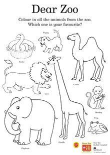 Activities, Other and Dear zoo on Pinterest