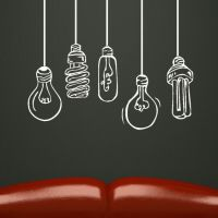 Details about FUNKY LIGHTBULBS wall sticker graphic art ...