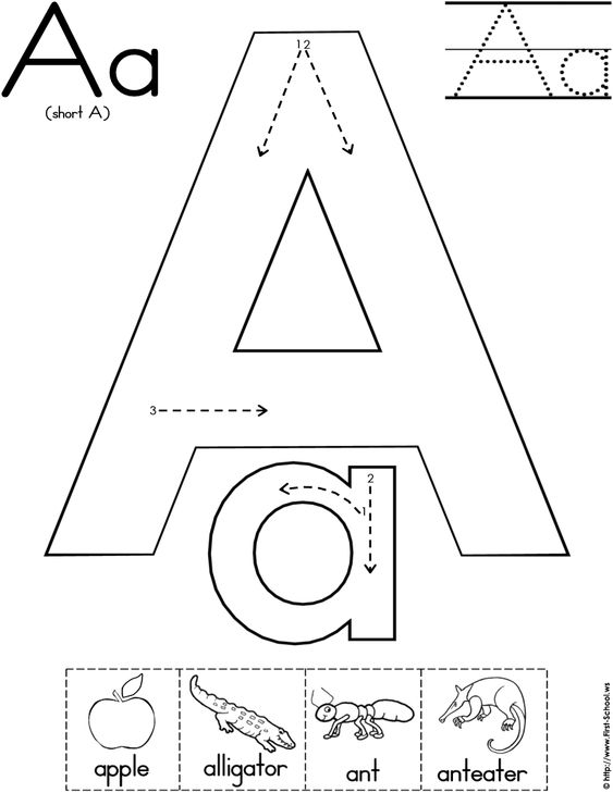 Worksheets, Letters and Alphabet on Pinterest