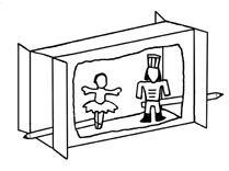 How to make a cereal box Nutcracker puppet theater with