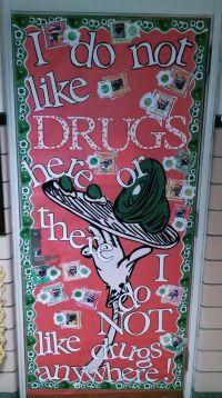 Red Ribbon Door decorating Dr. Seuss Green Eggs and Ham