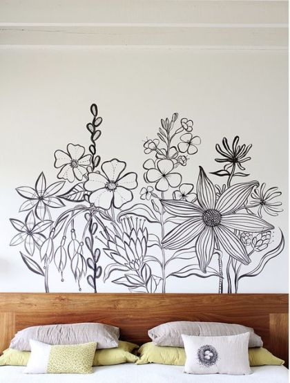 Poppytalk - The beautiful, the decayed and the handmade: Inspiration: Wall Mural by Geninne Zlatkis: