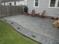 House Tour | Off Boulevard poured concrete patio (stamped ...