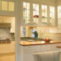 Galley Kitchen With Bar Separating Dining Room Design ...