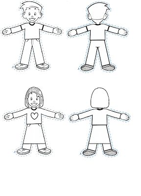 Flat Stanley and Girl Flat Ella {Free Printable Paper Doll