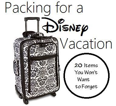Disney vacations, What to pack and Disney on Pinterest