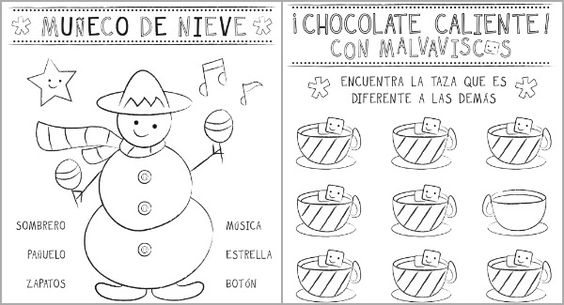 Spanish, In spanish and Christmas activities on Pinterest